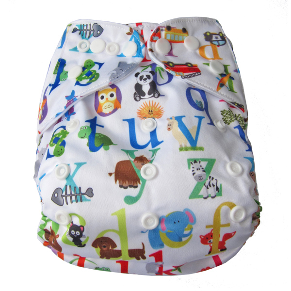 Animal Alphabet Modern Cloth Nappy