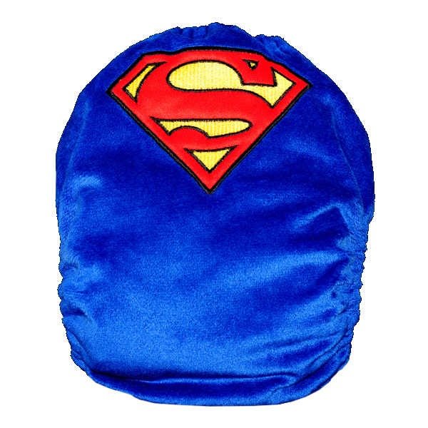 Embroidered Superman Cloth Nappy