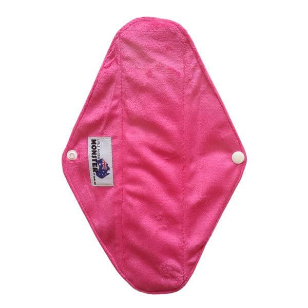 Bamboo Charcoal Sanitary Pad Minky Pink