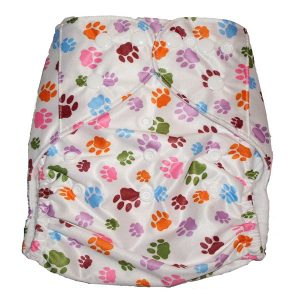cat dog print modern cloth nappies