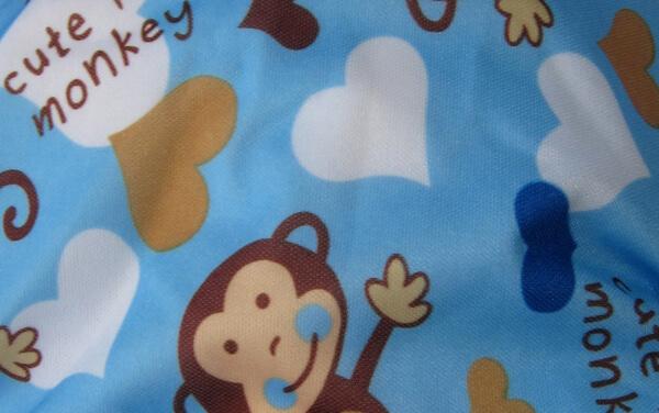 Reusable Modern Cloth Nappy MCN Cheeky Monkey Boy Blue insert