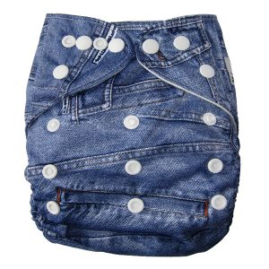 Denim Print Modern Cloth Nappies