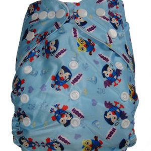 Giggle Hoot Blue Modern Cloth Nappies