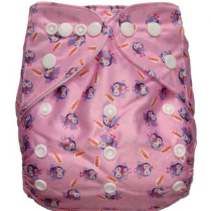 Giggle Hootabelle pink Modern Cloth Nappies