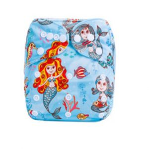 Aqua Mermaids Modern Cloth Nappies