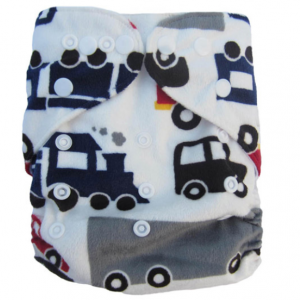 Minky Cars Trucks Modern Cloth Nappies
