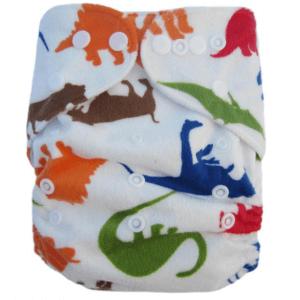 Minky Dinosaur Modern Cloth Nappies