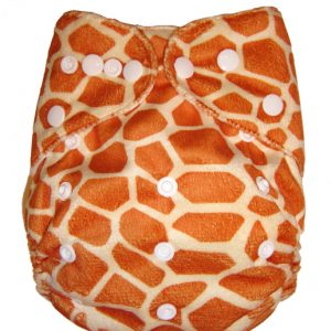 Minky Fluffy Giraffe Modern Cloth Nappies
