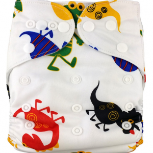 Minky Lizards Modern Cloth Nappies