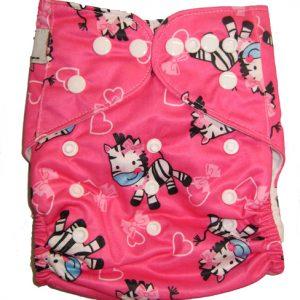 Pink Zebra Modern Cloth Nappies