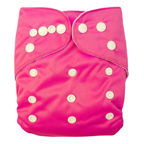Bright Pink Solid Colour Modern Cloth Nappies