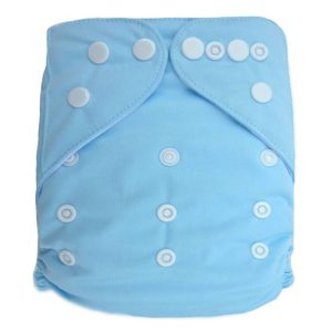 Light Blue Solid Colour Modern Cloth Nappies