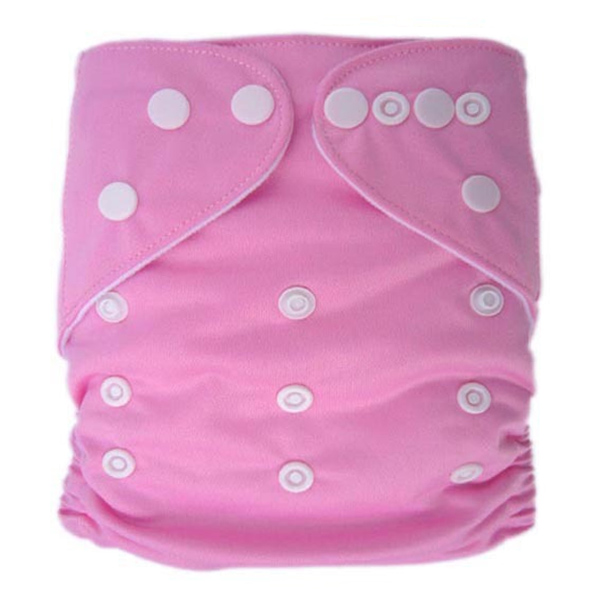 Light Pink Solid Colour Modern Cloth Nappies