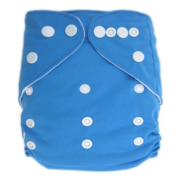 Med Blue Solid Colour Modern Cloth Nappies