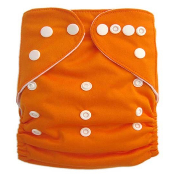 Orange Solid Colour Modern Cloth Nappies
