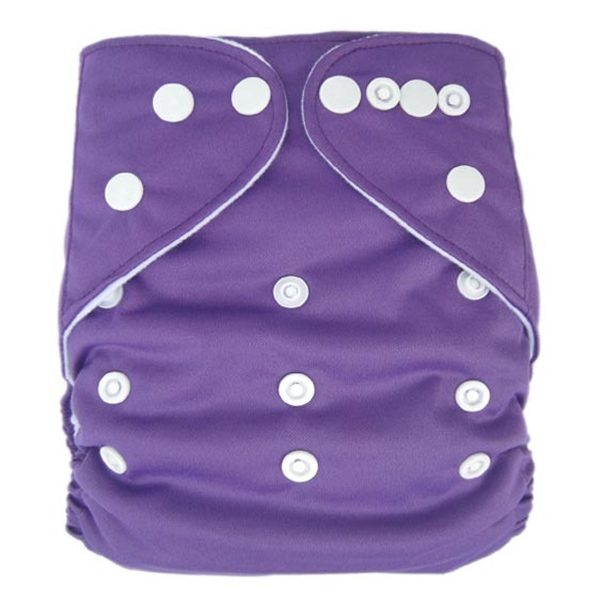 Purple Solid Colour Modern Cloth Nappies
