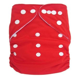 Red Solid Colour Modern Cloth Nappies