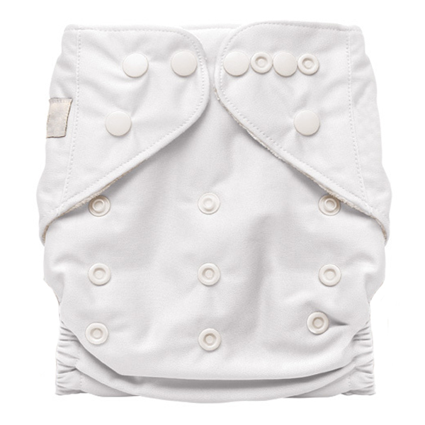 White Solid Colour Modern Cloth Nappies