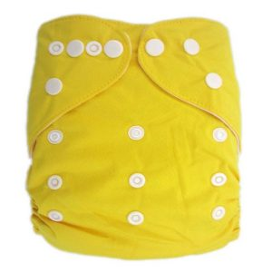 Yellow Solid Colour Modern Cloth Nappies