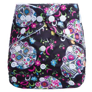 Sugar Skulls Modern Cloth Nappy