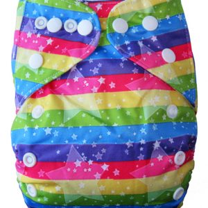 Rainbow Star Modern Cloth Nappy
