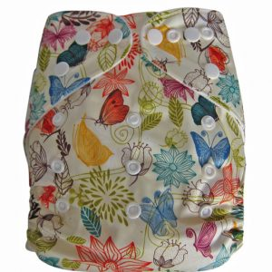 Light Flowers Modern Cloth Nappies