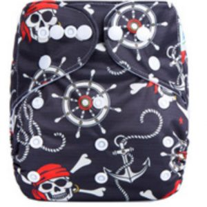 Pirates Anchors Modern Cloth Nappies