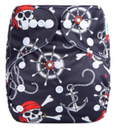 Pirates Anchors Modern Cloth Nappies