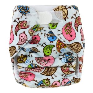 Newborn Prem Minky Birds Cloth Nappies