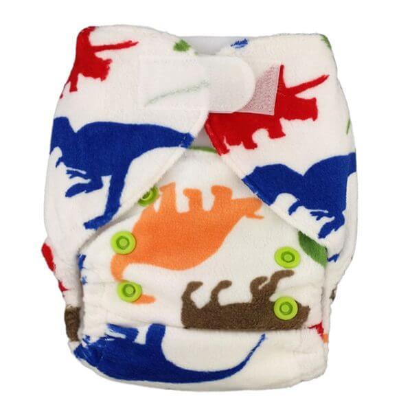 Newborn Prem Minky Dino Cloth Nappies