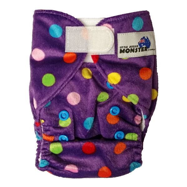 Newborn Prem Purple Spots Cloth Nappies
