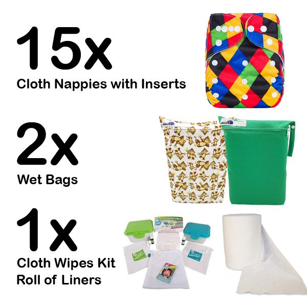 Part Time Cloth Nappy Set