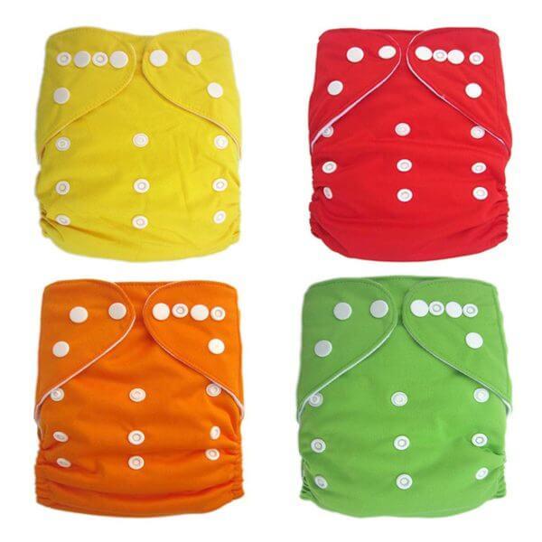 4 Plain modern cloth nappies