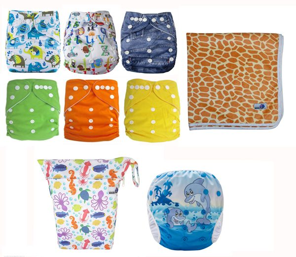 Summer Pack Modern Cloth Nappies