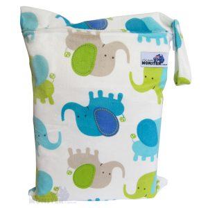 minky elephant wet bag