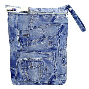 Wet Bag Large Denim Print