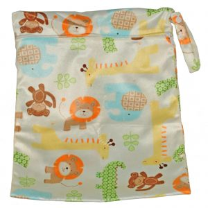 wet bag minky cute animals