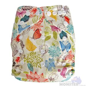 Light Flowers Modern Cloth Nappies front