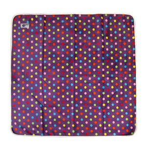 Change Mat Minky Purple Spot