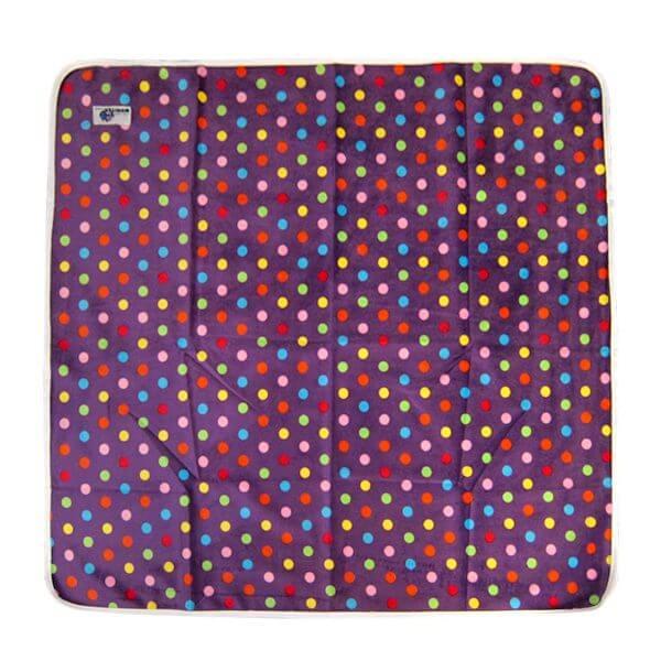 Change Mat Minky Purple Spot