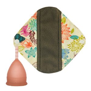 Lunette menstrual cup pad package