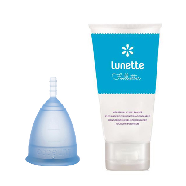 Lunette menstrual cup wash package