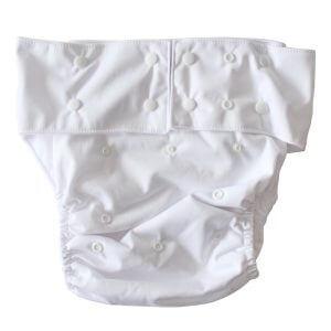 White Adult Cloth Diaper