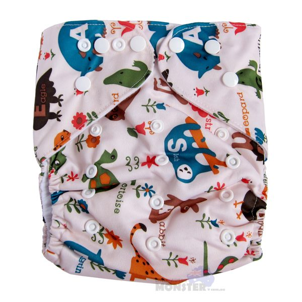 animals XL cloth nappy