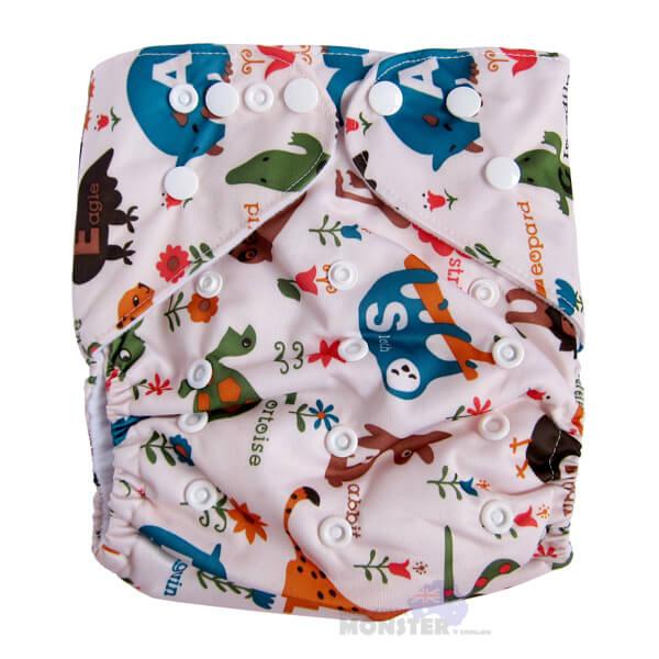 animals XL cloth nappy