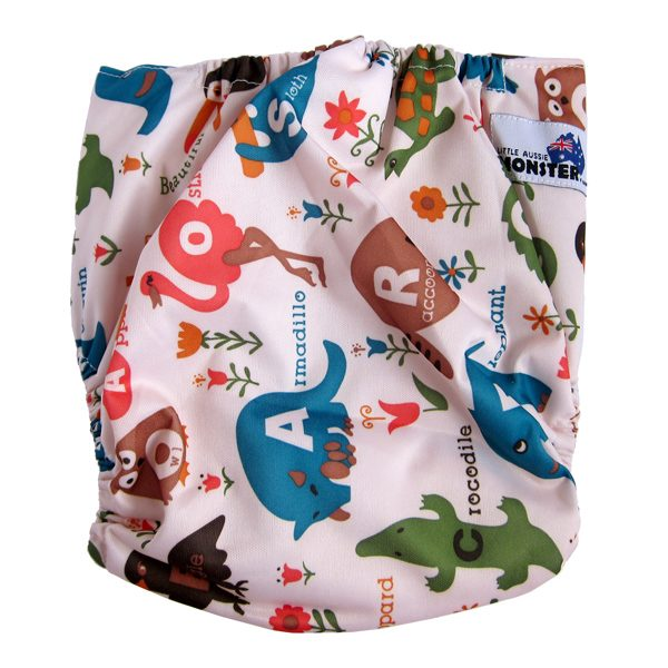 animals XL cloth nappy back