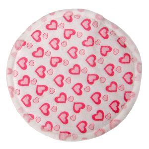 Bamboo Breast Pad Pink Hearts