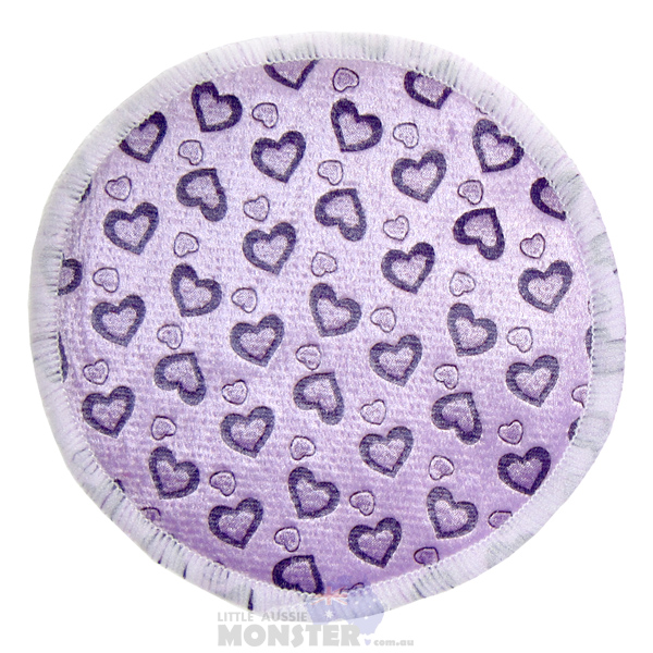 Bamboo Breast Pad Purple Hearts