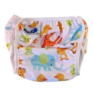 cute animals reusable swim nappy