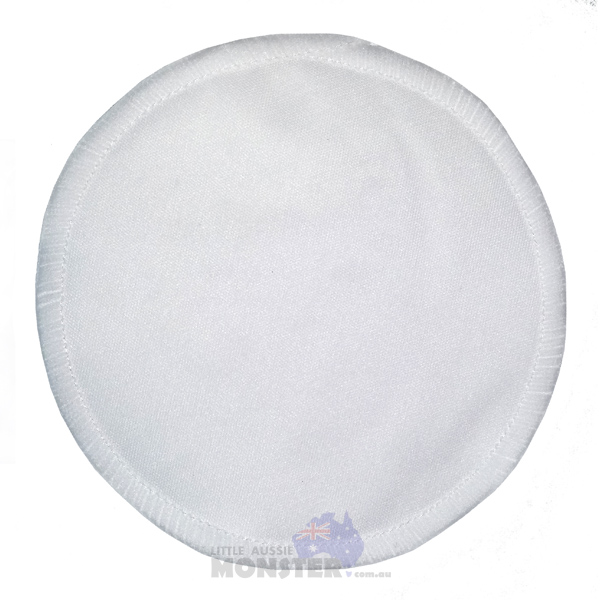 Reusable Bamboo Plain White Breast Pad